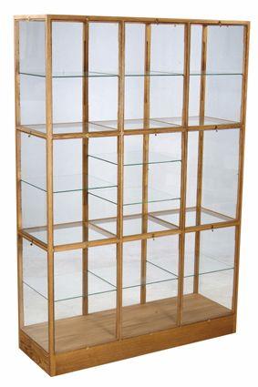 Oak wood and glass display cabinet - by Piet Hein Eek