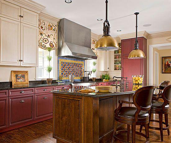 Red Kitchen Design Ideas Kitchen Cabinets Color