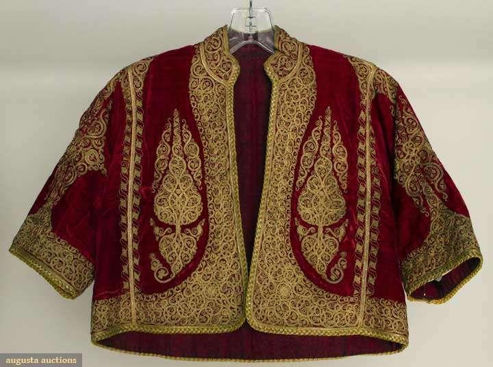 Velvet & Gold Regional Jackets, Albania, 1840-1899,