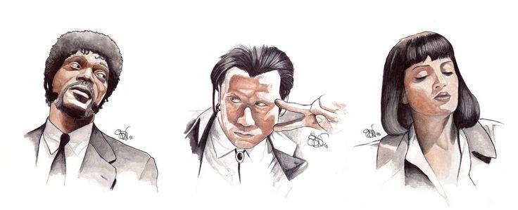 Pulp Trio - Pulp Fiction art by simonSDV on DeviantArt