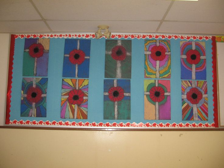 Remembrance Day art (no link but the picture looks easy enough to follow)