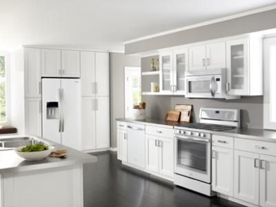 White Kitchens With White Appliances guest houses, dishwashers and appliance cabinet on pinterest