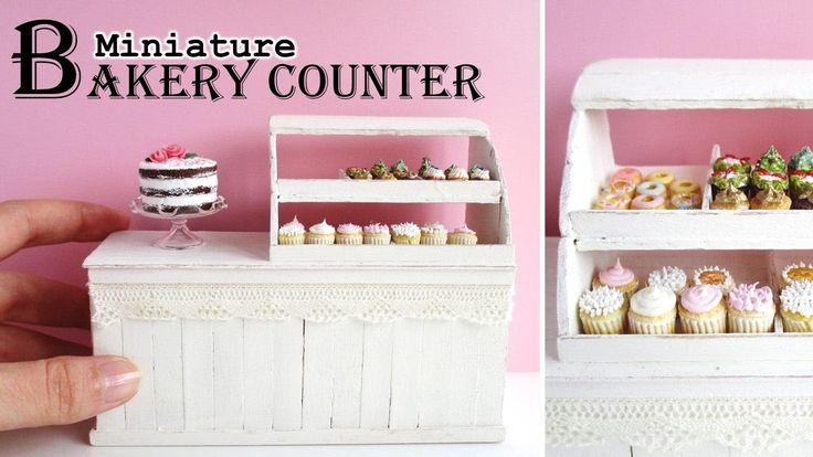 DIY Miniature Bakery/Deli Counter Using Lolly Sticks || Maive Ferrando