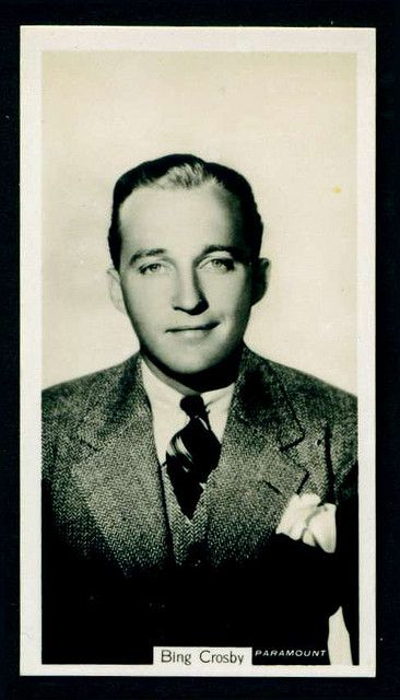 """John Sinclair Cigarettes (Newcastle) """"Film Stars"""" (series of 54 issued in 1937) #8 Bing Crosby"""