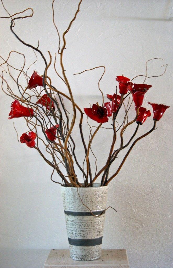 Poterie raku fleurs c ramique raku raku th i res - Idee de poterie ...