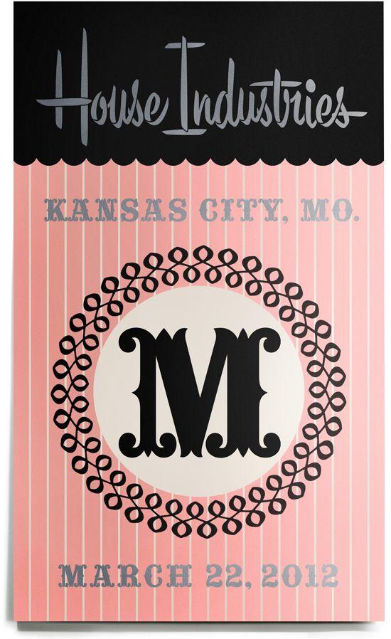 House Industries #typographyCities Art, Kansas City, Typeverything Com, Graphics Design, Retro Types, Kansas Cities, Graphics Art Design, House Inde, House Industrial