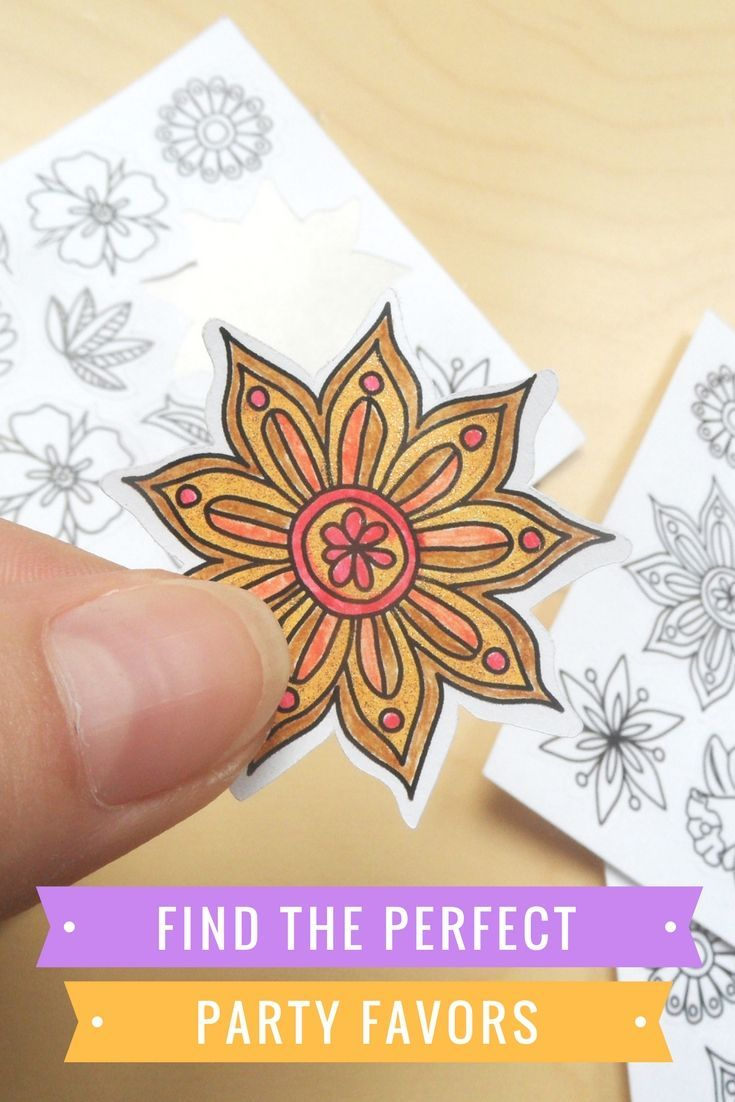 Adult coloring books are great, but it can be even better! That's a perfect combination of a flower coloring page and cool paper stickers. They make wonderful decoration for a planner for adults or a party favor for your kids' party :) These flower stickers are printed onto high quality white adhesive paper and can be colored with all your favorite pencils and pens. adult colouring stickers, planner stickers, cool stickers, flower stickers, flower colouring page, mandala stickers, white