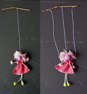 Zelf een klein marionet popje maken
