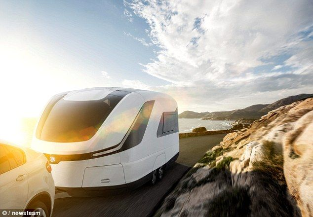 On the road: The luxury caravan comes with an incredible £500,000 price tag