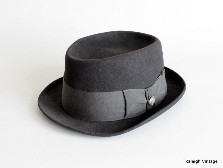 Vintage 1950s MENS Black Pork Pie Hat.  https://www.etsy.com/listing/100864672/vintage-1950s-mens-hat-50s-black-pork