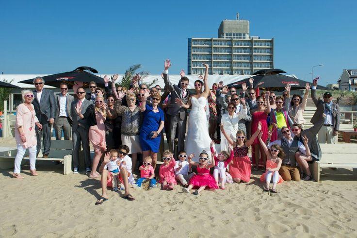 De Gasten! #guests#wedding#beach# Scheveningen