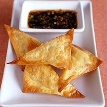 Gemüse Wan-Tan mit Soja-Dip