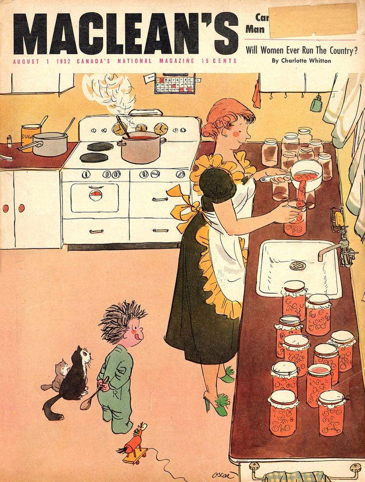 MacLean's magazine Illustrated by Oscar Cahén 1952 ...