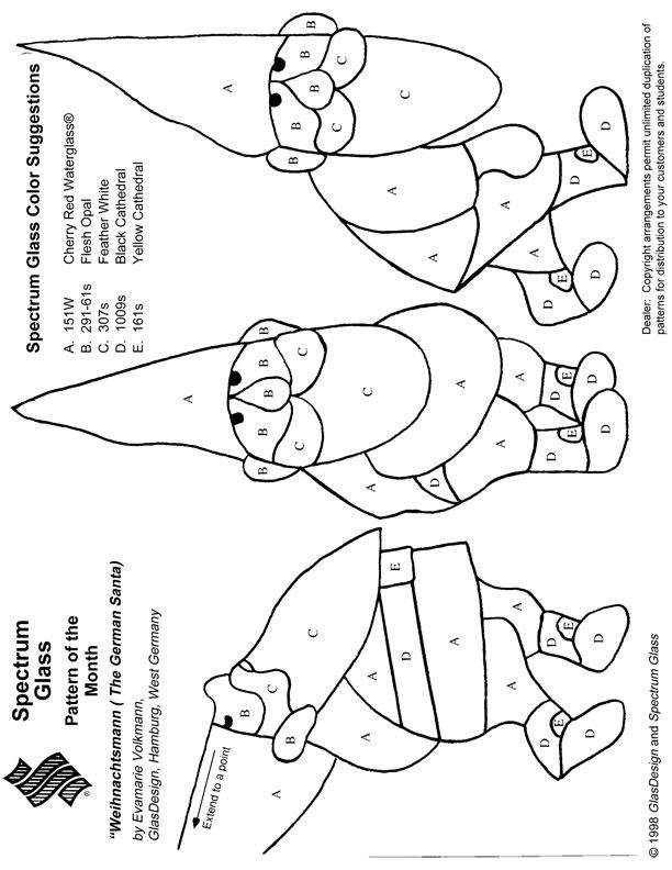 Stained Glass Patterns for FREE 994 German Santa.jpg