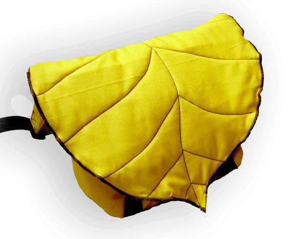 Yellow Leaf Waterproof Bike Messenger Bag Bicycle by LeaflingoOo, $63.00