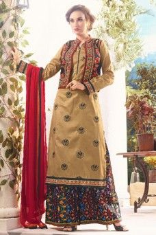 Beige Cotton Embroidered Cotton Jacket Style Festive Plazzo Suit  #traditional #wedding #festivewear #printed #casualwear #salwar_kameez #suits #dress #gown #anarkali #sarees #sari #lehenga_choli #lehenga #choli #chania_choli #Malaysia #Uk #Pakistan #india #germany #bridewear #indian_lady_collection