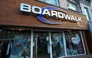 Visit Newquay's Boardwalk shop for some cracking deals on a wide range of surf wear and clothing!
