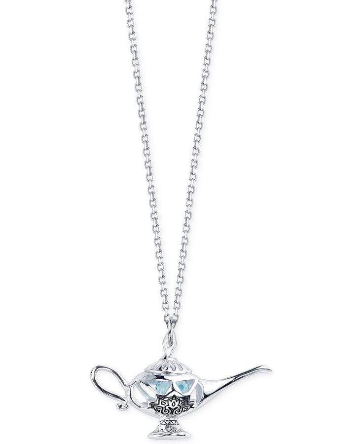 Disney Aladdin Lamp Pendant Necklace in Sterling Silver