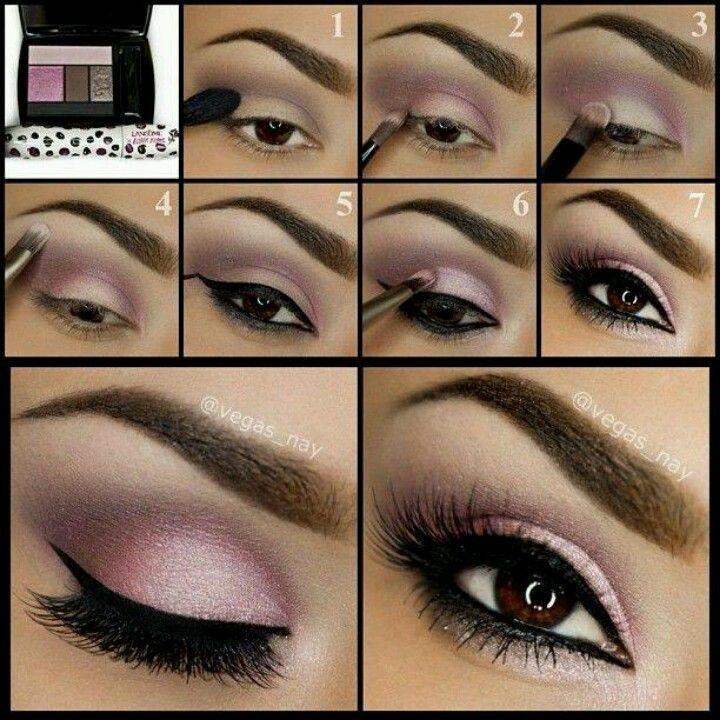 Eye makeup Light purple pink smokey eye