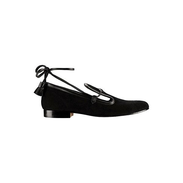 OOOK - Chanel - Accessories 2013 Pre-Fall - LOOK 6 | Lookovore ❤ liked on Polyvore featuring shoes, chanel, chanel shoes, flats, scarpe, chanel flats, chanel footwear, flat heel shoes and flat pump shoes
