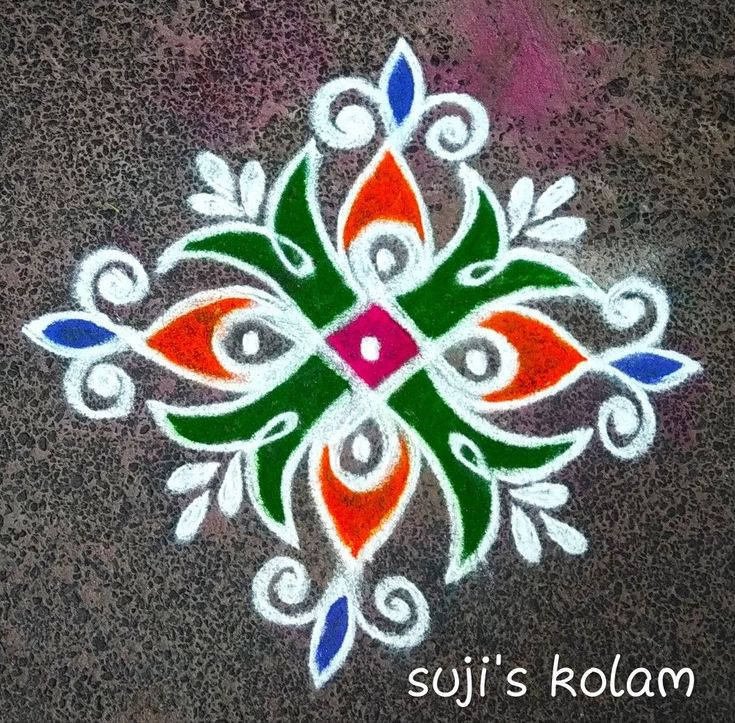 275+ Simple and Easy Rangoli Designs With Dots For Home