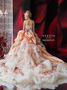 Stella DE Libero Ball Gown for a Wedding that's original. Nothing boring will do for the girl who would, this dress choose.