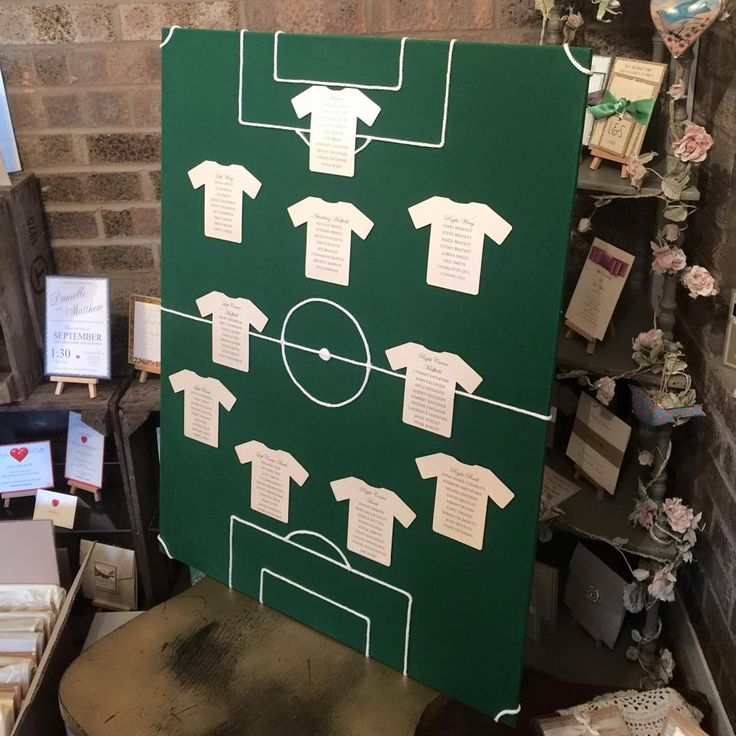Footie mad groom chose this table plan xXx
