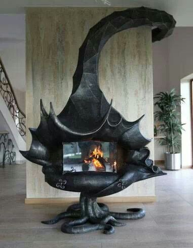 Tim Burton Inspired Fireplace