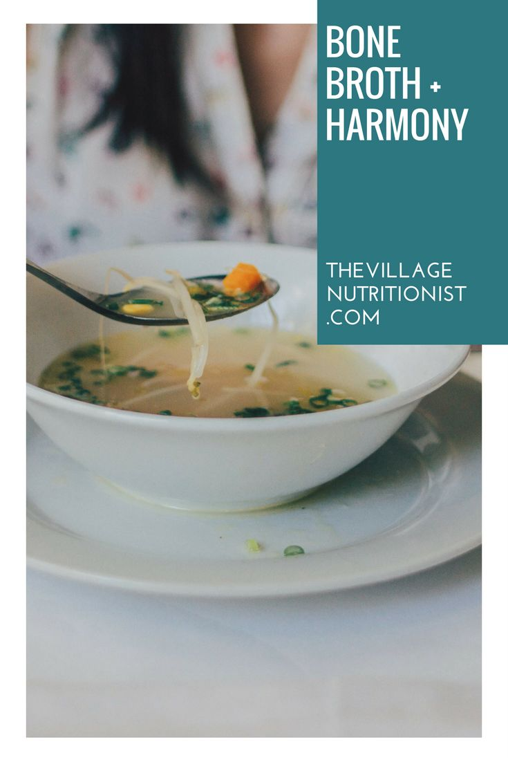 Nourishing and easy to make Bone Broth! Learn how via The Village Nutritionist