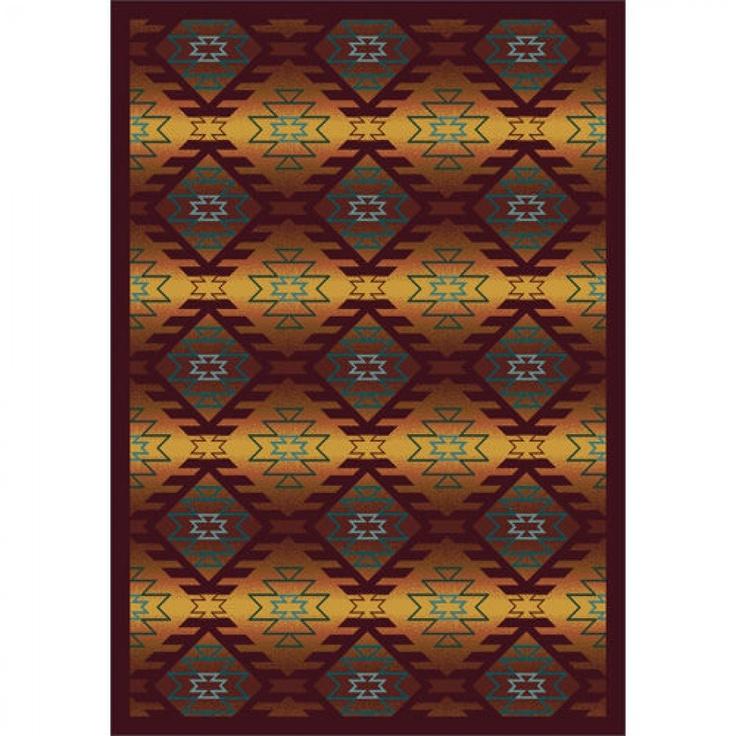 Joy Carpets Whimsy Canyon Ridge Mesa Sunset Southwestern Kids Rug - 1577-02