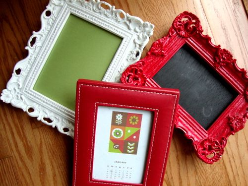 Frames. Oh what you can do with them... chalkboard paper!