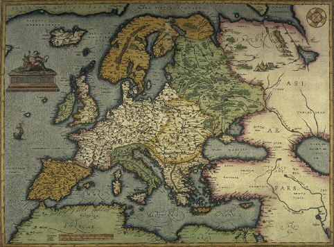 Abraham ortelius, Map of Europe, by Theatrum orbis terrarum, Antwerp, 1570 - Berlin, Staatsbibliothek (Scala, Florence / BPK, Bildagentur für Kunst, Kultur und Geschichte, Berlin)