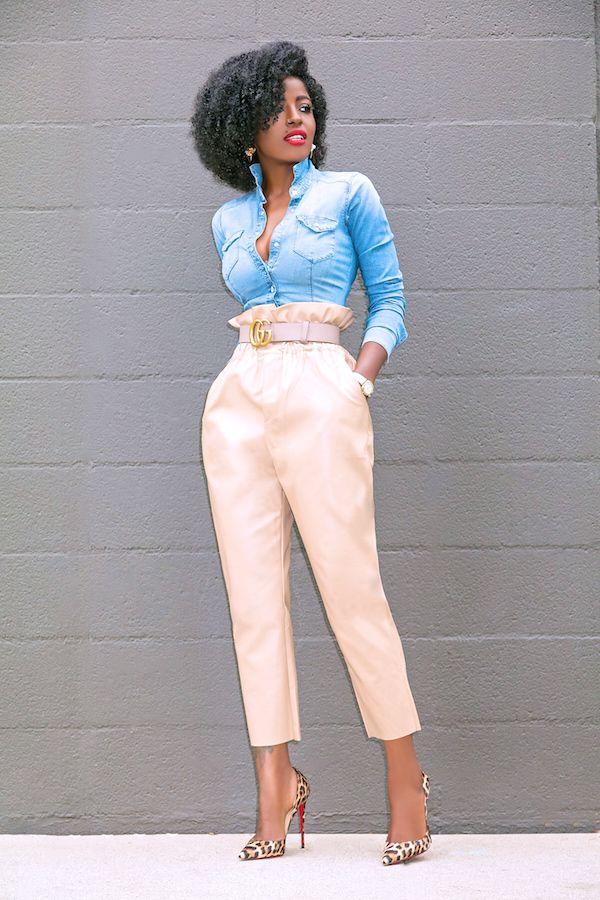 """Résultat de recherche d'images pour """"pantalon paper bag afrique"""""""