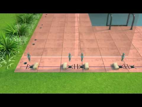 Oxworks - Frameless Glass Pool Fencing DIY Video - Core Drill Spigots - YouTube