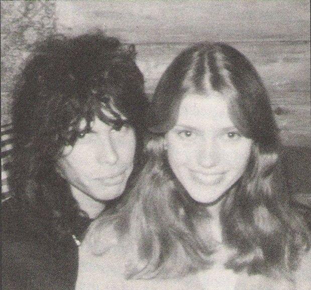 Steven Tyler and Bebe Buell, 1976.