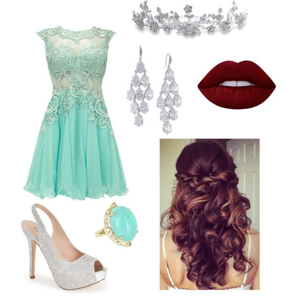 Fancy Dress Party by becfinck on Polyvore featuring Lauren Lorraine, Carolee, Vintage, Bling Jewelry, Lime Crime, Retrò and fancygathering