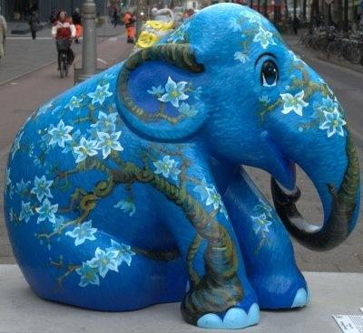 Blue Elephant in Elephant Parade Amsterdam 2009