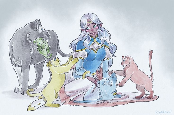 """pinklikeme: """"""""They're your lions, Allura. What should we do? """" Desperately sticking cotton on my ears and going lalalala about the S2 rumors. Also, lion cubs. C: A sketch that rolled away from me. """""""