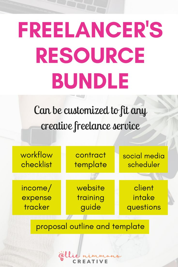 The Freelancer Resource Bundle  Each document in the bundle has the information and structure you need with a clean, minimal design so you can add your own branding in and make them your own!  Includes: - Contract template - Social media sharing schedule - Income and expense tracker - WordPress training guide - Client intake questions - Proposal outline and template  PLUS a free web designer's workflow checklist!