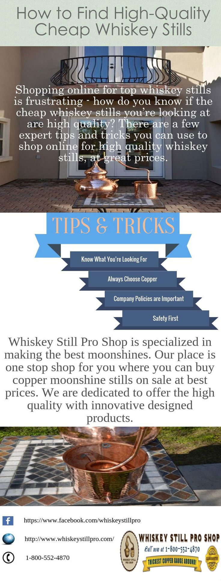 At Whiskey Still Pro Shop, you can find all types of stills which are easy to clean and maintain. This time, we have some special offers for you. Grab the opportunity to buy copper moonshine stills which are on sale for valid time.  http://www.moonshinestills.blogspot.com/2015/09/the-top-3-myths-about-moonshine-stills.html