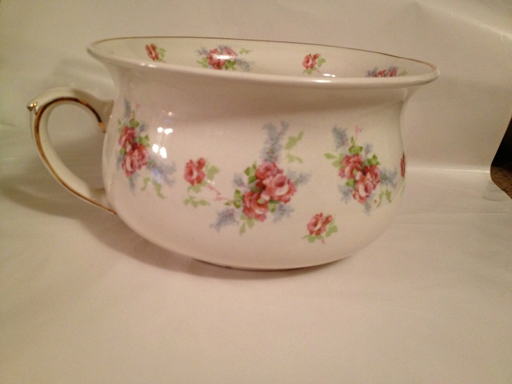 Antique Chamber Pot Pink Roses Made in England Arthur Wood Gold Rim ❤❤❤ - 69 Best Chamber Pots - Commodes Images On Pinterest History