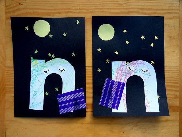 Nn on Owl Theme Opposites Cards 4
