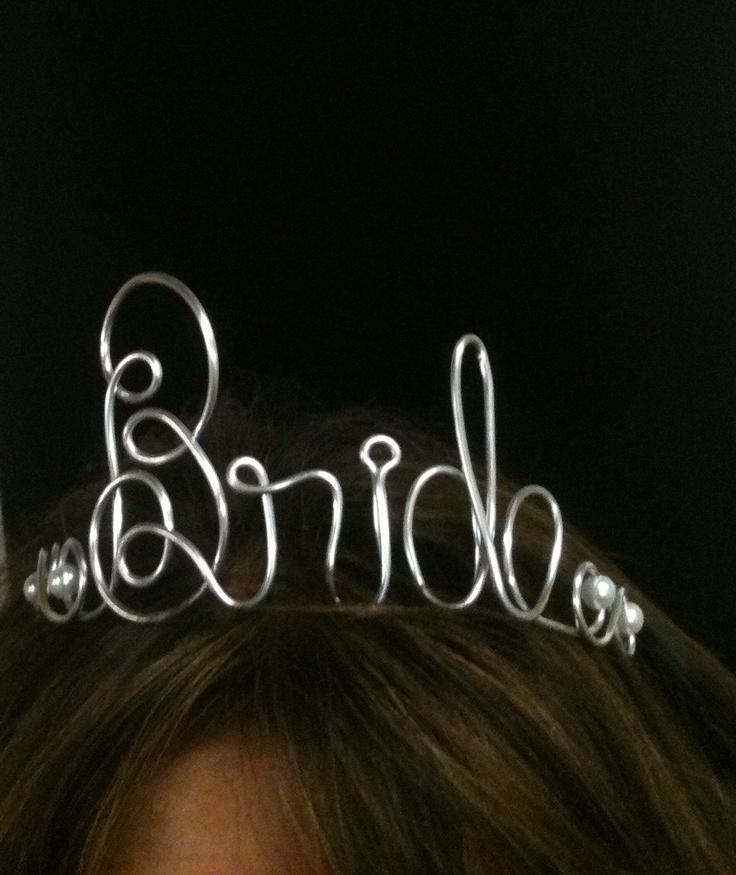 Bachelorette PARTY TIARA  Crown  Hair Accessory    DIY Bride Hanger. $20.00, via Etsy.