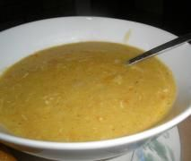 Creamy Chicken & Cauliflower Rice Soup (low carb version of Creamy chicken & brown rice soup)