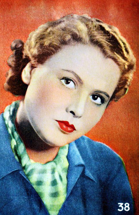 Birgit Tengroth (1915-1983) Swedish film actress. Samlarbild.