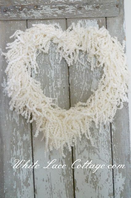 DIY: Shabby Heart Shaped Wreath Tutorial...Simply Beautiful!: