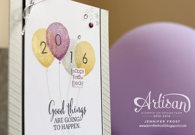 The new Wink of Stella Clear pen makes adding a little shimmer to these balloons so simple - Jennifer Frost