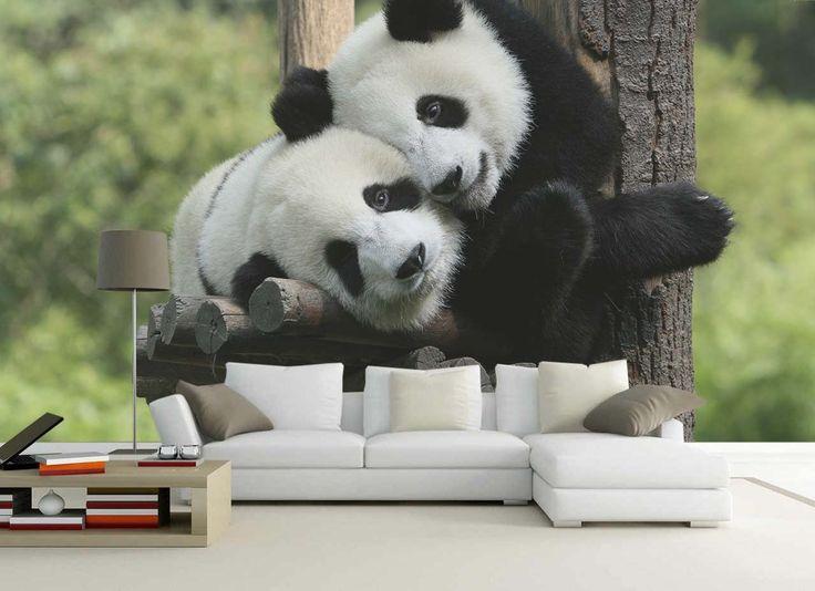 Fotomural Osos Panda a $69.000 el metro cuadrado.