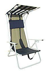 A beach chair with an attached canopy means you aren't limited to sitting under your beach umbrella. Go ahead and pull your chair and shade up to the water and let the waves splash over your feet.