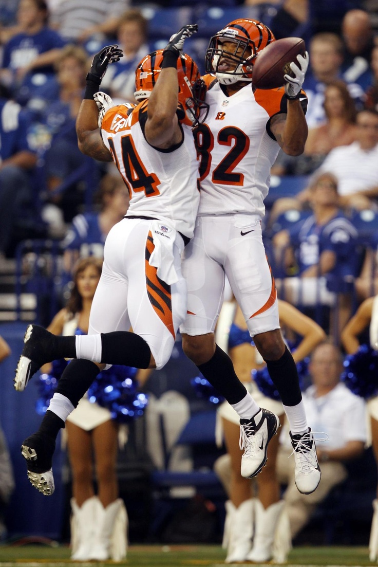 Preseason is over and NFL is back! Let's look at this NFL preseason picture Because this might just help you in your NFL football betting! Check out Cincinnati Bengals wide receiver Marvin Jones, right, celebrates a touchdown with running back Dan Herron against the Indianapolis Colts in the first half of an NFL preseason football game in Indianapolis    Visit: http://www.sportsbook.ag/football-betting/NFL/